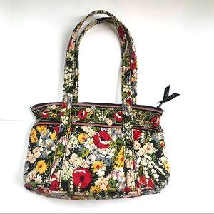 Vera Bradley bag/purse top zipper closure floral